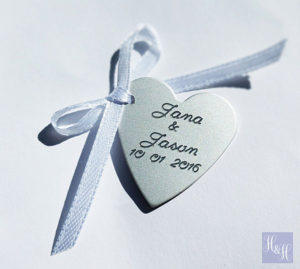 *Optional* - Heart charm with Engraving - please provide the names and wedding date in the comment box if you are having this added extra.