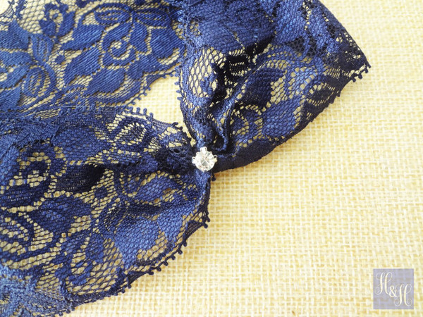 Navy Blue Garter - Sierra design