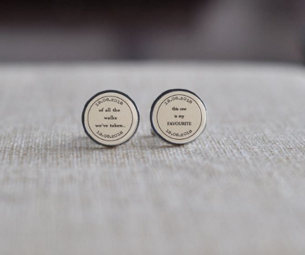 Personalised Quote Cuff Links - Stainless Steel