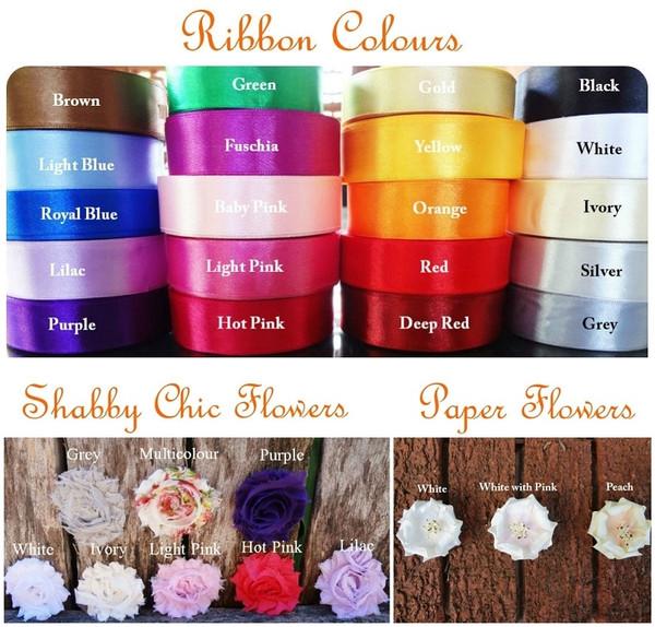 Embellishment Options & Colours