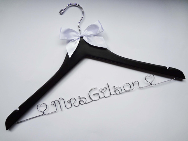 Black hanger with White bow