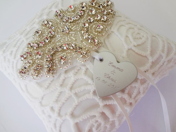 Personalised Ring Pillow - Jalena design