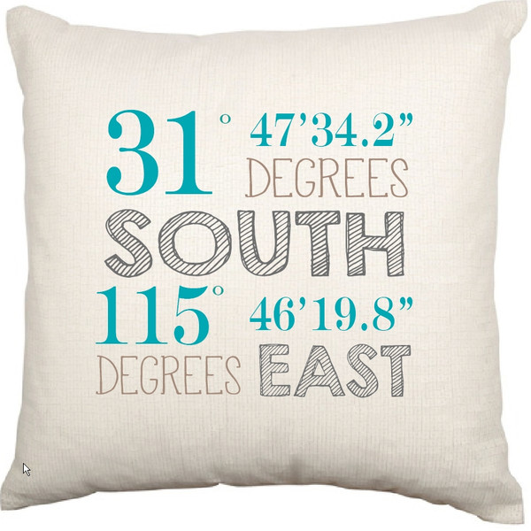 Personalised Coordinates Cushion Cover (Susie Design)