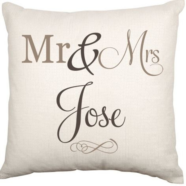 Personalised Couples Cushion Cover (Script)