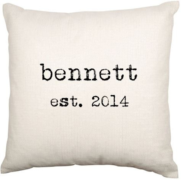 Personalised Couples Cushion Cover (Est)