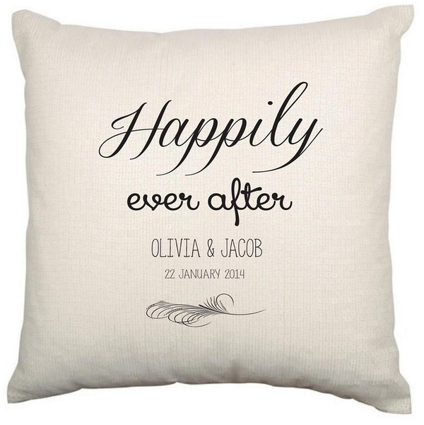 Personalised Couples Cushion Cover (Ever After)