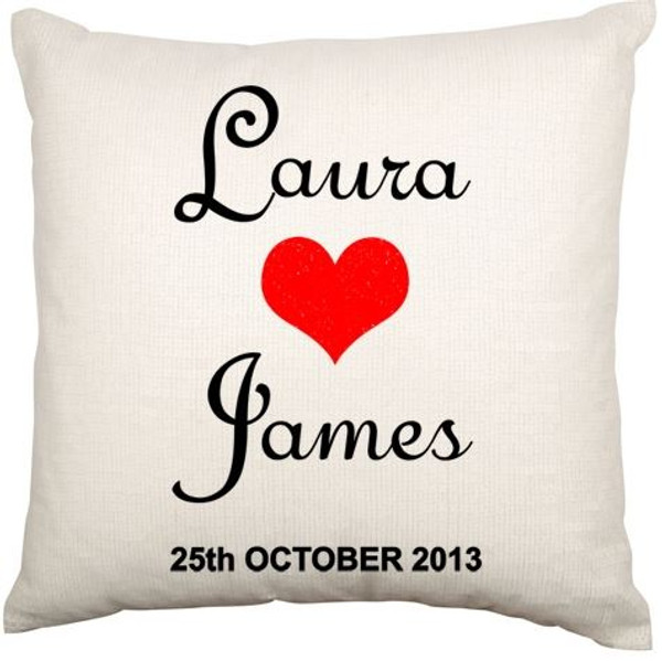 Personalised Couples Cushion Cover (Love)