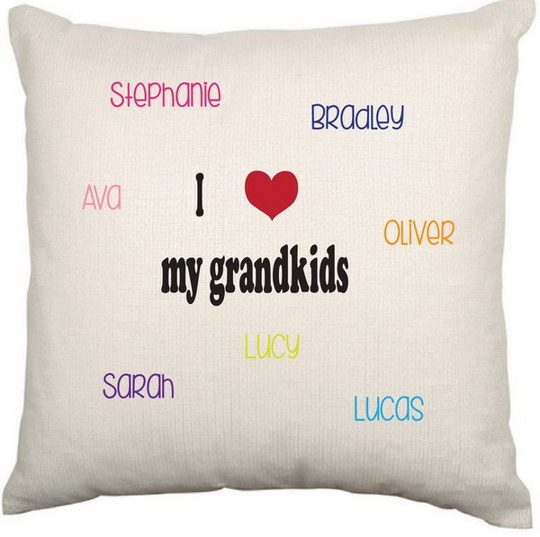 Personalised Cushion Cover (Love Grandkids)