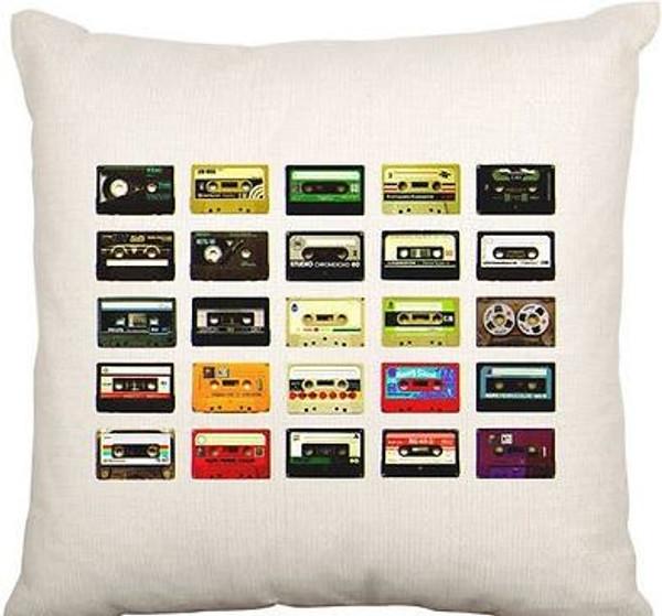 Cushion Cover (80s Cassette Tape)