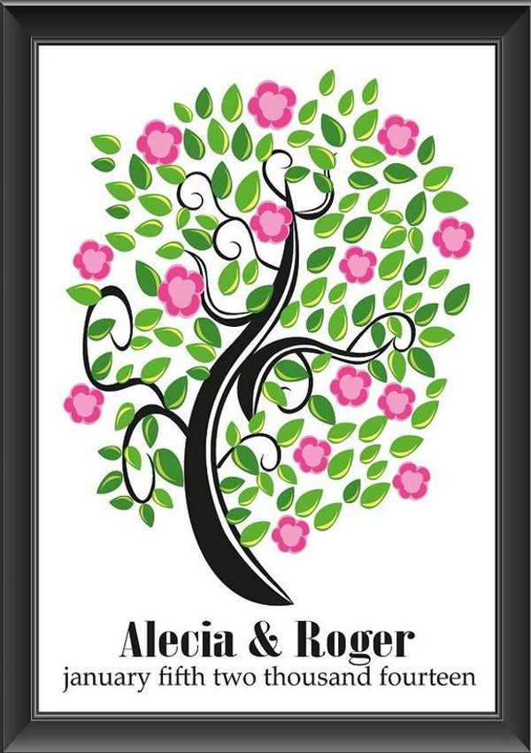 Personalised Blossom Tree Guestbook