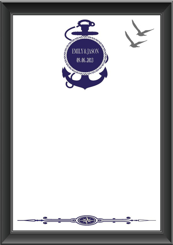 Personalised Nautical Theme Guestbook
