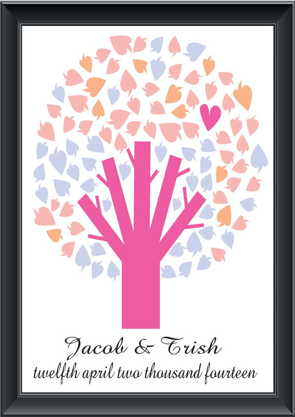 Personalised Round Tree Guestbook