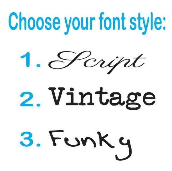 Please choose your font style