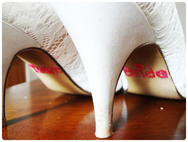 Shoe Stickers - Team Bride