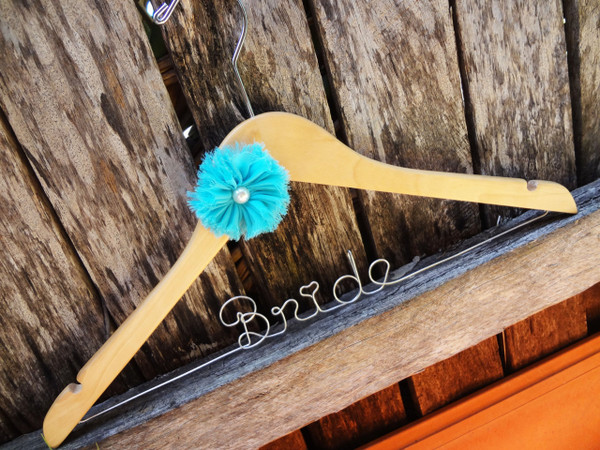 Personalised Adult Hanger with Pearl Flower