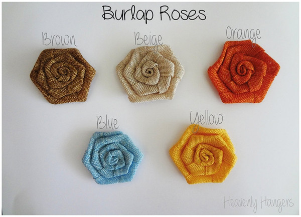 Burlap Rose Colours