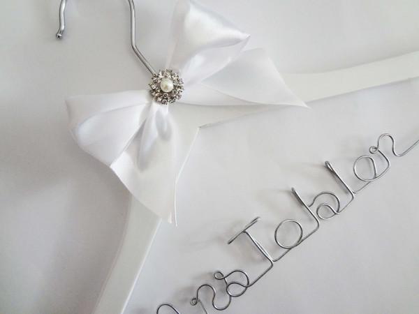 White hanger