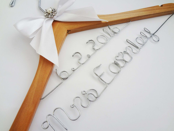 Natural hanger with 2 lines of personalisation