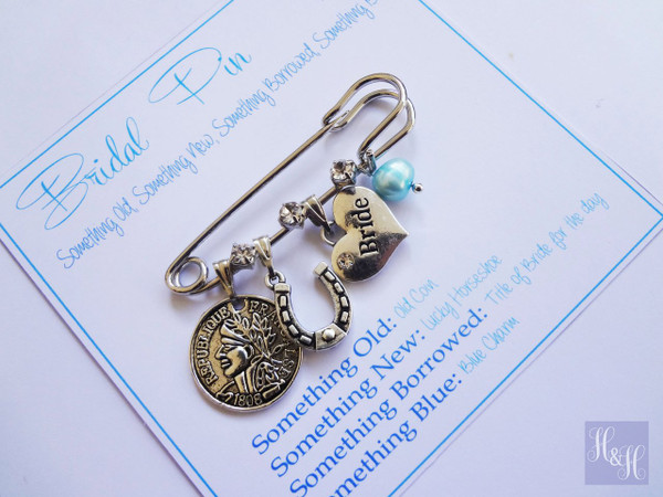 Bridal Charm Pin (with freshwater pearl)