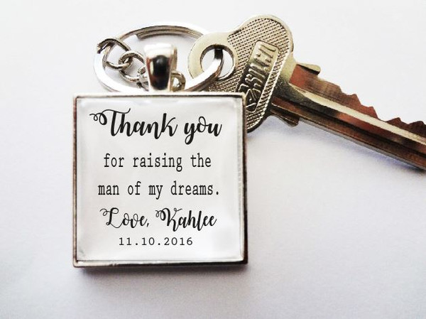 Keyring - Personalised Bridal Party (Father of the Groom)