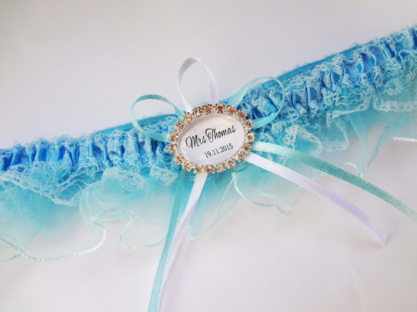 Personalised Garter - Cecilia design