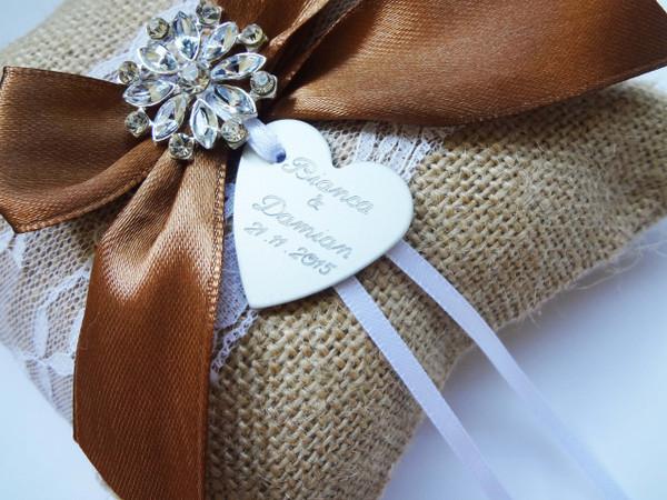 Personalised Ring Pillow - Joanna design