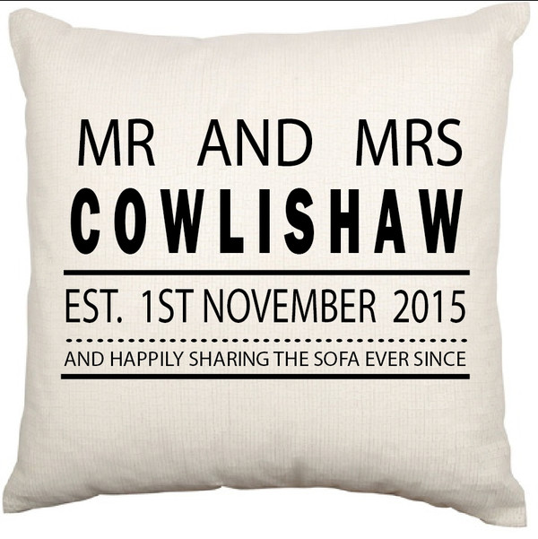 Personalised Couples Cushion Cover (Couch)