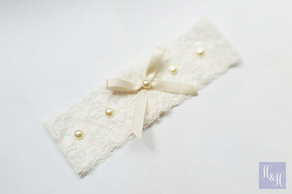Personalised Garter - Candy design