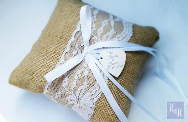 Personalised Ring Pillow - Jill design