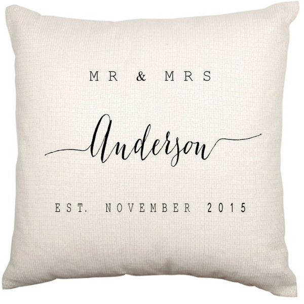 Personalised Couples Cushion Cover (Modern)