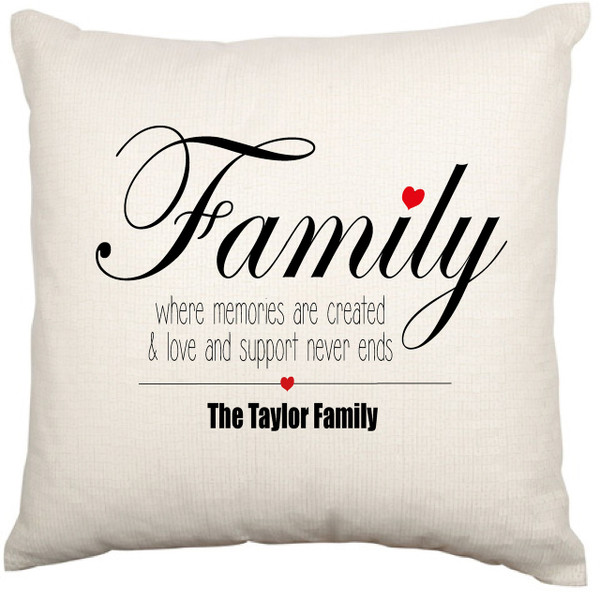 Personalised Cushion Cover (Family)