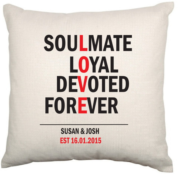Personalised Couples Cushion Cover - Sierra Design