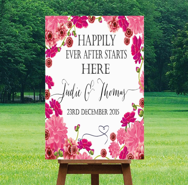 "Printable Wedding Sign - ""Mia"" Design"