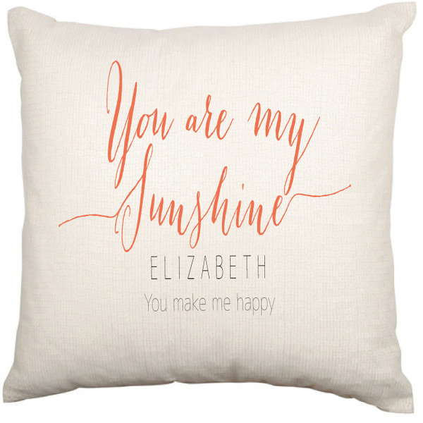 Personalised Cushion Cover (You are my sunshine)