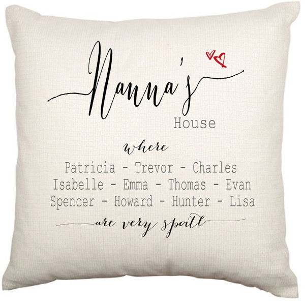 Personalised Cushion Cover (Nanna's House)