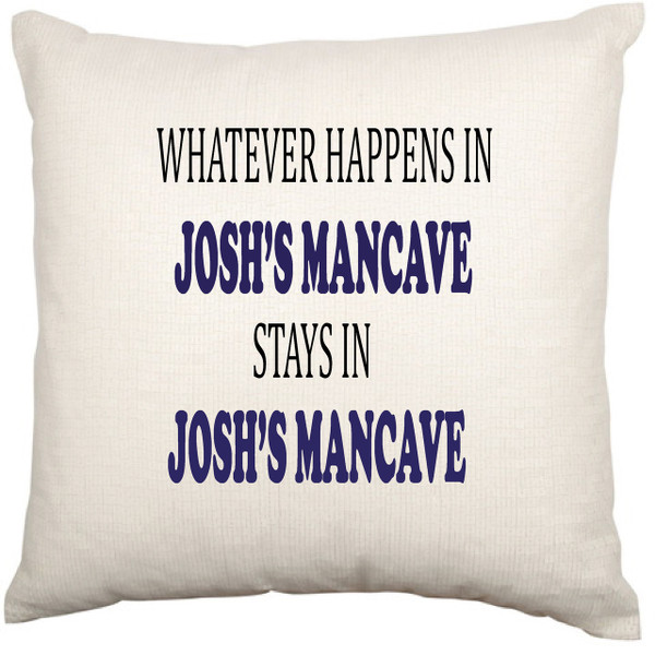 Personalised Mancave cushion cover - Dylan Design