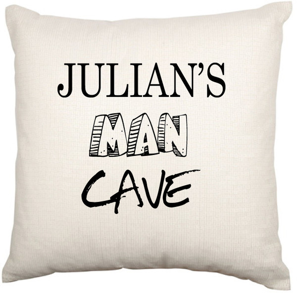 Personalised Mancave cushion cover - Duncan Design