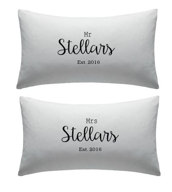 Personalised Couples Pillow Cover