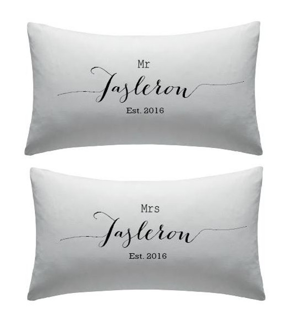 Personalised Couples Pillow Cover (Freida Design)