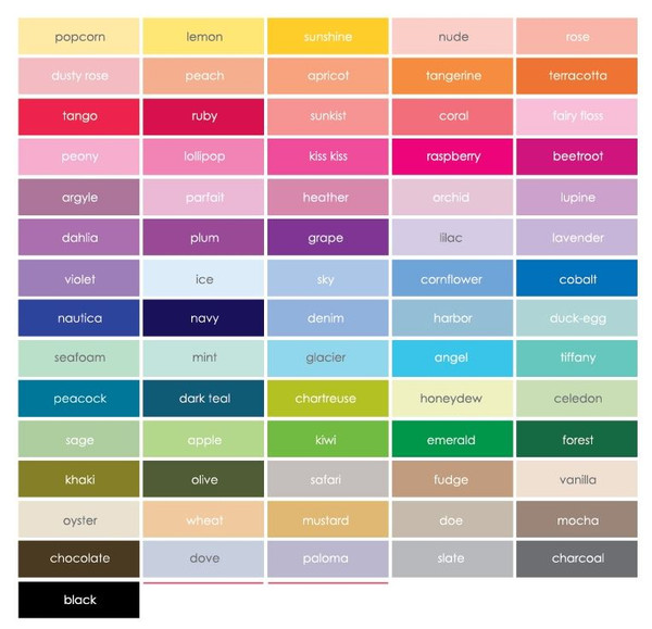 Colour chart - for your text