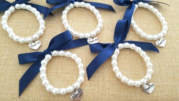Pearl Flower Girl /Flowergirl Bracelet