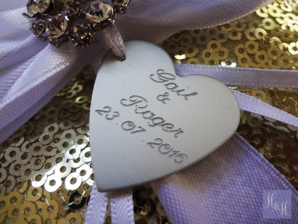 Personalised Ring Pillow (silver sequin) - Tammin design