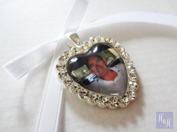 Bouquet Charm (Heart) w/ Rhinestones- Matilda Design