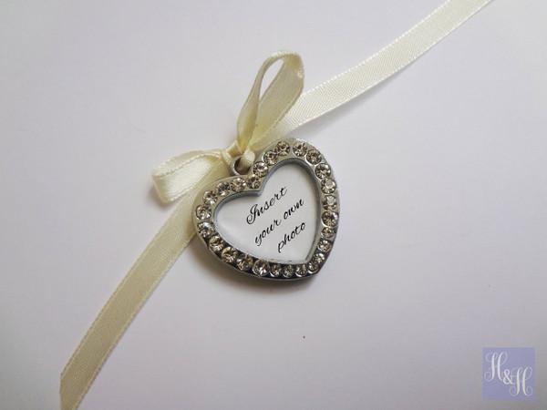 Bouquet Charm - DIY Rhinestones Blank (Silver) - Mallory Design