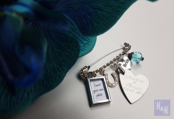 Bridal Charm Pin (with photo frame)