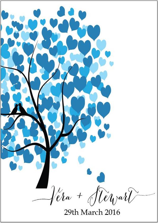 Personalised Tree Guestbook - Side Tree