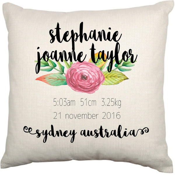 Personalised Nursery Cushion Cover (Marissa design)