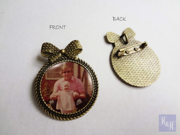 Bouquet Charm/ Brooch with Pin - Risley Design