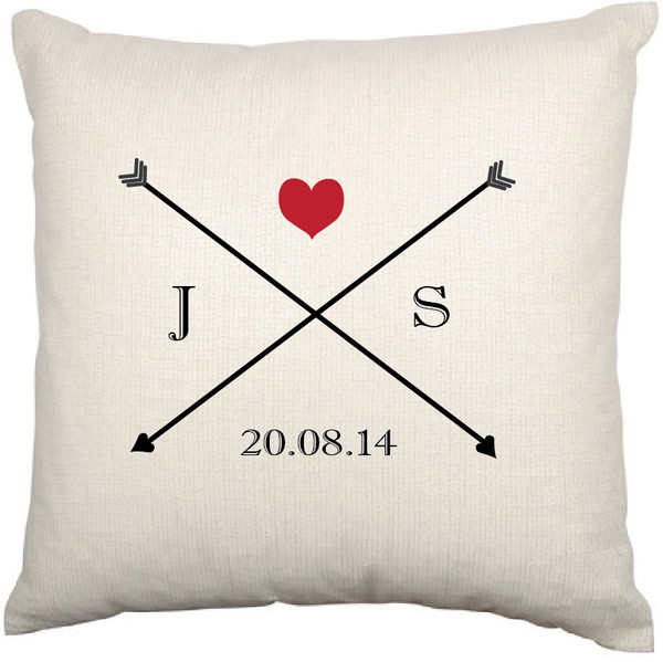 Personalised Couples Cushion Cover - Sadie Design