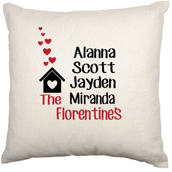 Personalised Cushion Cover (House)